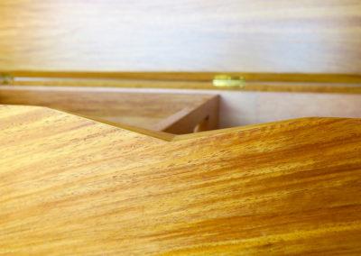 Deckenbox aus Neuguinea Rosenholz